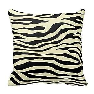 Black And Ivory Zebra Print Stripes Animal
