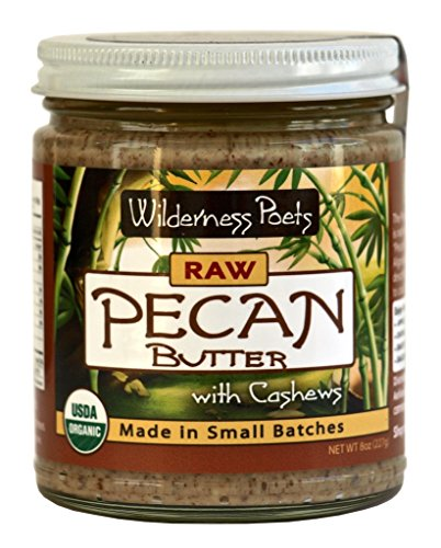 Peanut Butter Pie Filling - Wilderness Poets Organic Raw Pecan Butter, 8 Ounce (227 Gram)