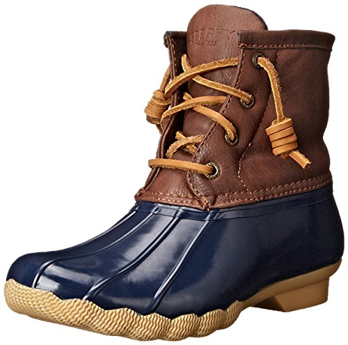 Sperry Saltwater Rain Boot (Little Kid/Big Kid), Navy, 4 M US Big Kid (Best Christmas Gift For A Duck Hunter)