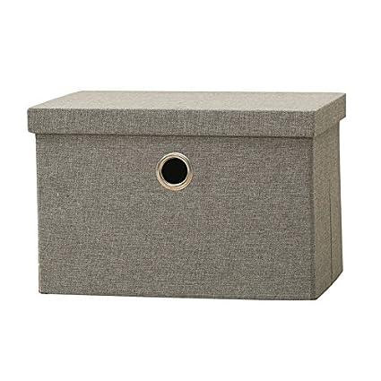Cubierto de tela caja de almacenaje plegable ropa caja de almacenamiento temporada ropa caja de almacenaje
