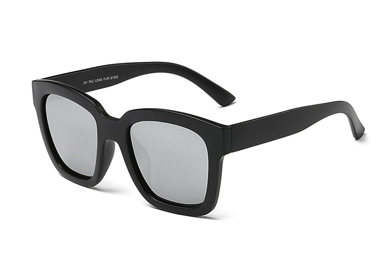 Laura Fairy Brand Designer Highlight Polarized Classic Sunglasses-matte black silver