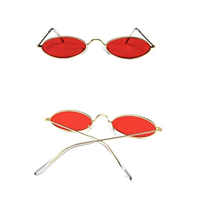 44b631c5fb Diadia Small Frame Skinny Cat Eye Sunglasses for Women Colorful Mini Narrow  Square Retro Cateye Vintage Sunglasses (F)  Amazon.co.uk  Grocery