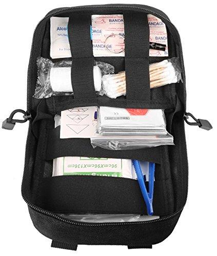 DCCN Pochette EMT Médecine Tactique Molle Sac de Premiers Soins Kit de Premier Secours Militaires pour Randonnée Camping… 4