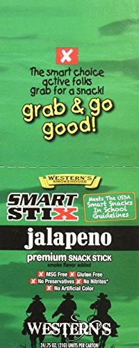 Western's Smokehouse Smart Stix Jalapeño Flavor Meat Snack Stick .75 oz. (24 pk) (Western Gourmet Foods)