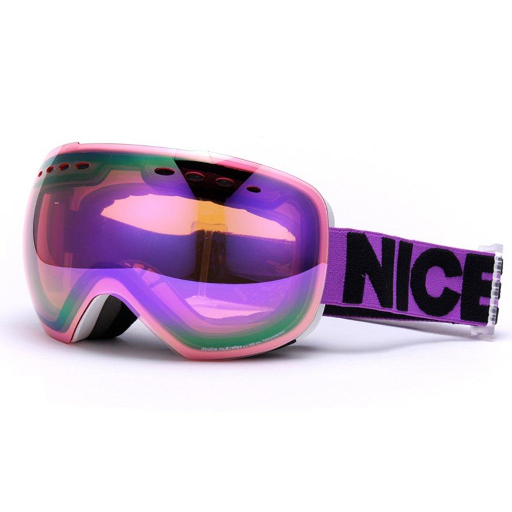 se7ven Professionalスキー眼鏡、ユニセックスdual-layerレンズ曇り止めゴーグルUltra wide-angel球状パノラマスノーボードゴーグルOTG B07B23TH5K  D