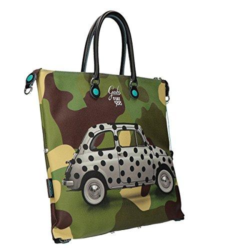 Cabrio Shopping Gabs Scacchi Bag Grande Multicolore Fiat 500 xqAYTqrw