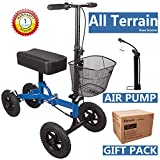 2019 Elevens All Terrain Steerable Knee Walker Knee Medical Scooter Heavy Duty for Broken Leg & Foot-Medical Knee Scooter Alternative to Crutches (Metallic Navy)