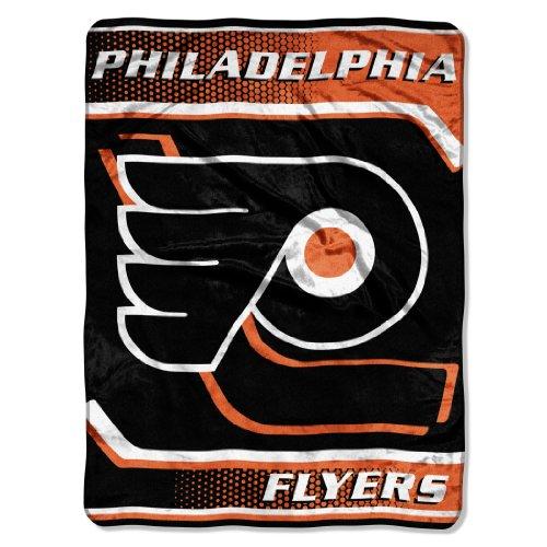 The Northwest Company Officially Licensed NHL Philadelphia Flyers Banner Royal Plush Raschel Throw Blanket, 60