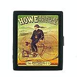 Metal Cigarette Case Vintage Poster D-150 Howe Bicycles Tricycles Howe Machine