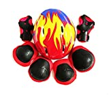 Set-of-7-Children-Sports-SL-Size-Adjustable-Helmet-Knees-Elbows-Wrists-Durable-Protective-Gear-Safety-Support-Pads-Equipment-for-Kids-Cycling-Roller-Skating-Extreme-Sports-Protection