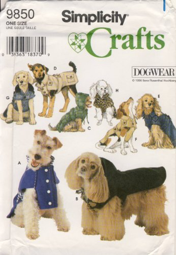 - OOP Simplicity Dog Wear Pattern 9850. Coats for Dogs W/14-16