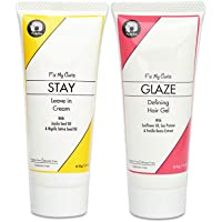 Fix My Curls Travel Size, Styling Bundle, with Glaze Hair Gel, and Stay Leave In Cream,50g each
