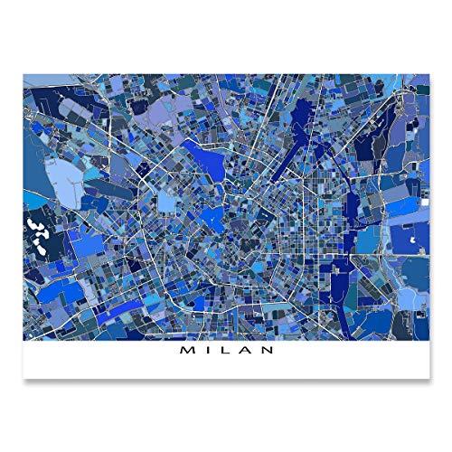 Milan Map Print, Italy Europe, City Travel Art Poster
