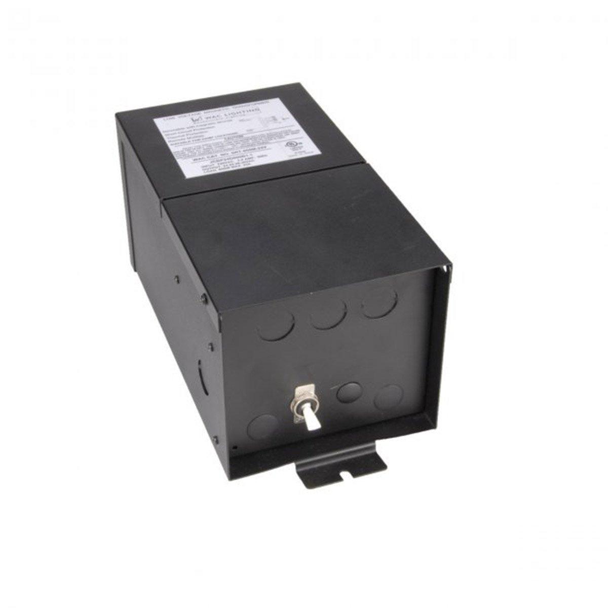 WAC Lighting SRT600M12V Remote Magnetic Transformer 600W, 600W Output 12V with Boost Tap