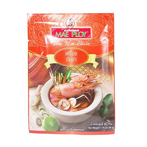 MAE PLOY BRAND, Tom Yum Paste, 50g(1.76oz) X 4 Packs