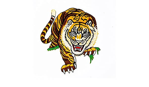 Rabana Panthera Tigris tigre caza Cartoon Kids niños Cute Animal parche para DIY Apliques hierro en parche camiseta parche Sew iron on bordado Badge Sign ...