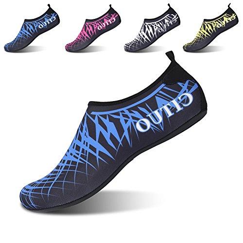 L-run Womens Barfota Snabbtorkande Vatten Skor Aqua Strumpa För Simning Surfing Yoga Black_blue
