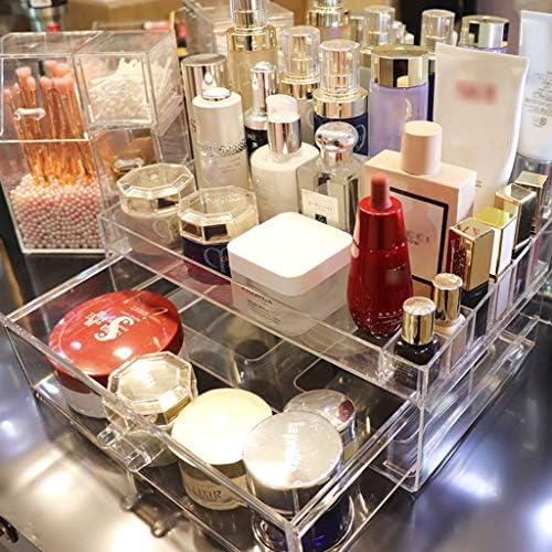 化粧品収納ボックス 家庭用透明引き出し化粧品収納ボックスアクリルデスクトップラック口紅スキンケアマスク収納ボックス SYFO (Size : D)