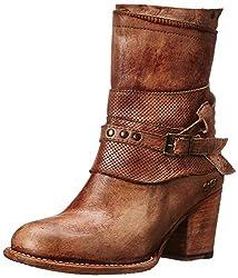 bed stu Women's Rowdy Western Boot, Teak Driftwood, 11 M US
