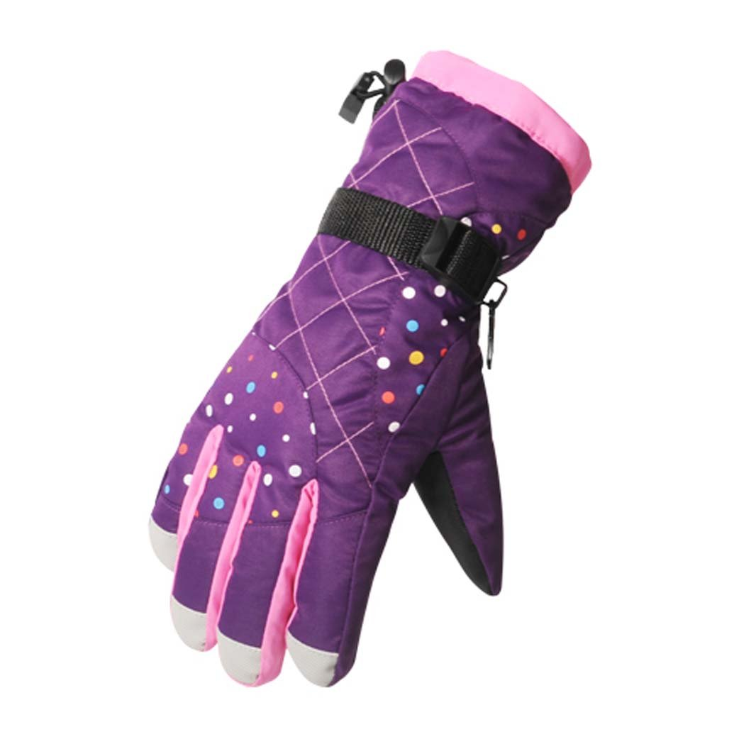 Best-selling Multicolor Adult Winter Warm Outdoor Sports Waterproof Women Ski Gloves Winter Gloves Warm Gloves (Black) Limited