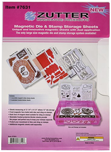 Zutter Magnetic Sheets 12.25x8.5-3 Magnetic Sheets + 3 Dividers