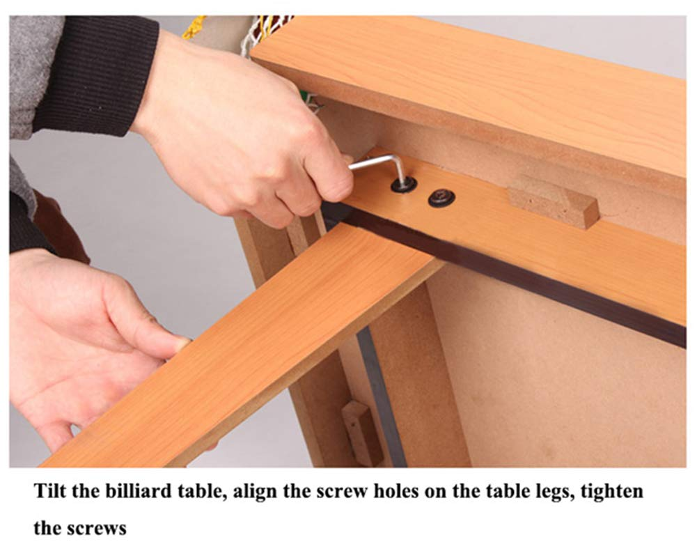 Mini Pool Tisch Tabletop Billard Game Game Game Set w Cues Balls 260427