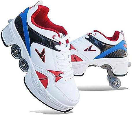 Guoyajf Zapatos con Ruedas Zapatillas De Skate con Ruedas para ...
