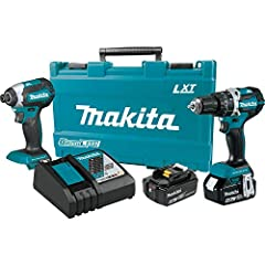 Makita has the world's largest 18V cordless tool line-up, and the 18V LXT Lithium-Ion cordless 2-piece Combo kit packs two compact cordless tools with efficient Brushless motors for a full range of drilling, driving, and fastening application...