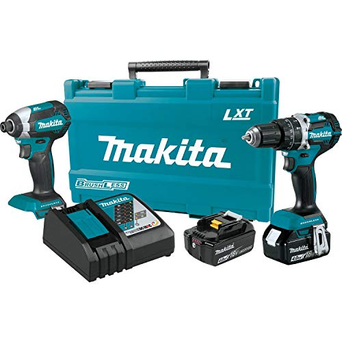 Makita XT269M 18V LXT Lithium-Ion Brushless Cordless 2-Pc. Combo Kit (4.0Ah), ()