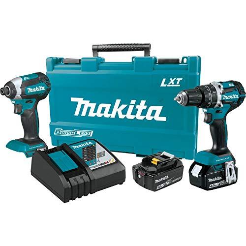 Makita XT269M 18V LXT Lithium-Ion Brushless Cordless 2-Pc. Combo Kit 4.0Ah ,