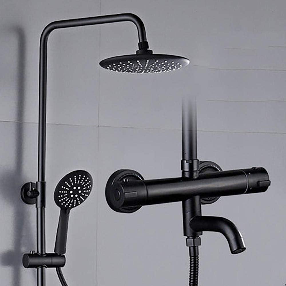Tobera de refuerzo de ducha de cobre Baño de control Ducha termostática negra-Ronda negro panel revestimiento ducha mamparas de ducha: Amazon.es: Bricolaje y herramientas