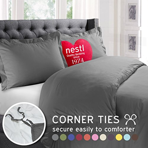 Nestl Bedding 3 Piece Microfiber Duvet Cover Set