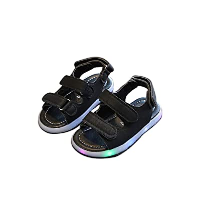 84b4a4dea272 LED Kids Boys Girls Shoes Casual Light up Luminous Baby Sport Sneakers