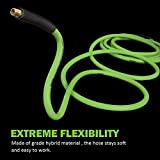 PowRyte Elite 300 PSI Hybrid (PVC/Rubber) Air Hose - 3/8-Inch by 100-Feet, 1/4-Inch MNPT Brass Ends, Lightweight, Lays Flat, Soft, Non-Kinking, All-Weather Flexibility