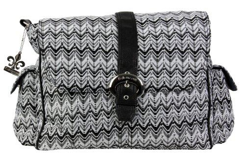 Kalencom Diaper Bag, A Step Above Ripple Black/White