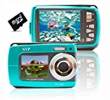 SVP Blue Aqua5500 (Free Micro 8GB) 18MP Underwater Digital Camera with Two Screens