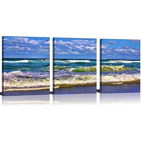 Mode Art Canvas Print Wall Art Painting For Home Decor Blue