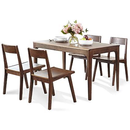 Comedor Mesa Comedor Juego de Mesa con 4 sillas de Comedor Cocina ...