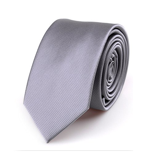 Skinny Tie cm Colors 6 2 Textured Mens with Grey Necktie 4inches Various Stripe wadqqg6