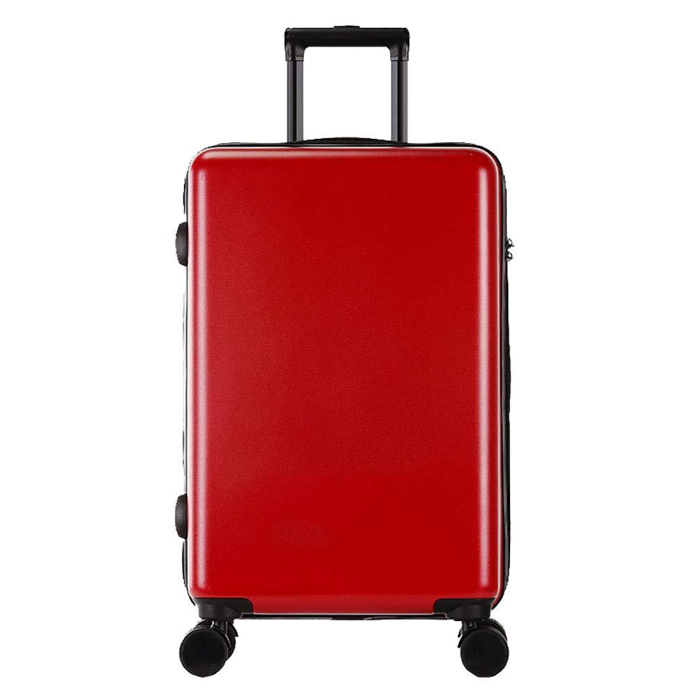 トロリーボックスPC大容量ポータブル出張ミュートキャスタースーツケース(赤)   B07M8Y5L23