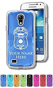 Personalized Case/Cover for Samsung Galaxy S4 Mini - POLICE OFFICER BADGE - Engraved for FREE
