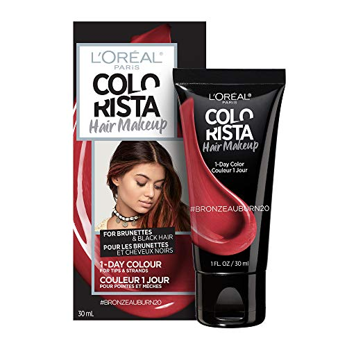 L'oreal Paris Hair Color Colorista Makeup 1-day for Brunettes, Bronzeauburn 20, 1 Fl Oz