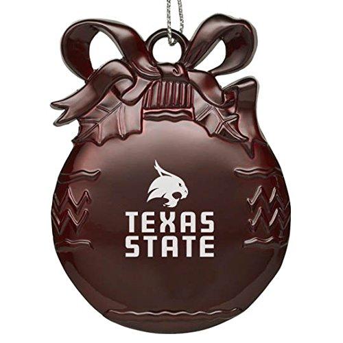 Texas State University - Pewter Christmas Tree Ornament - -