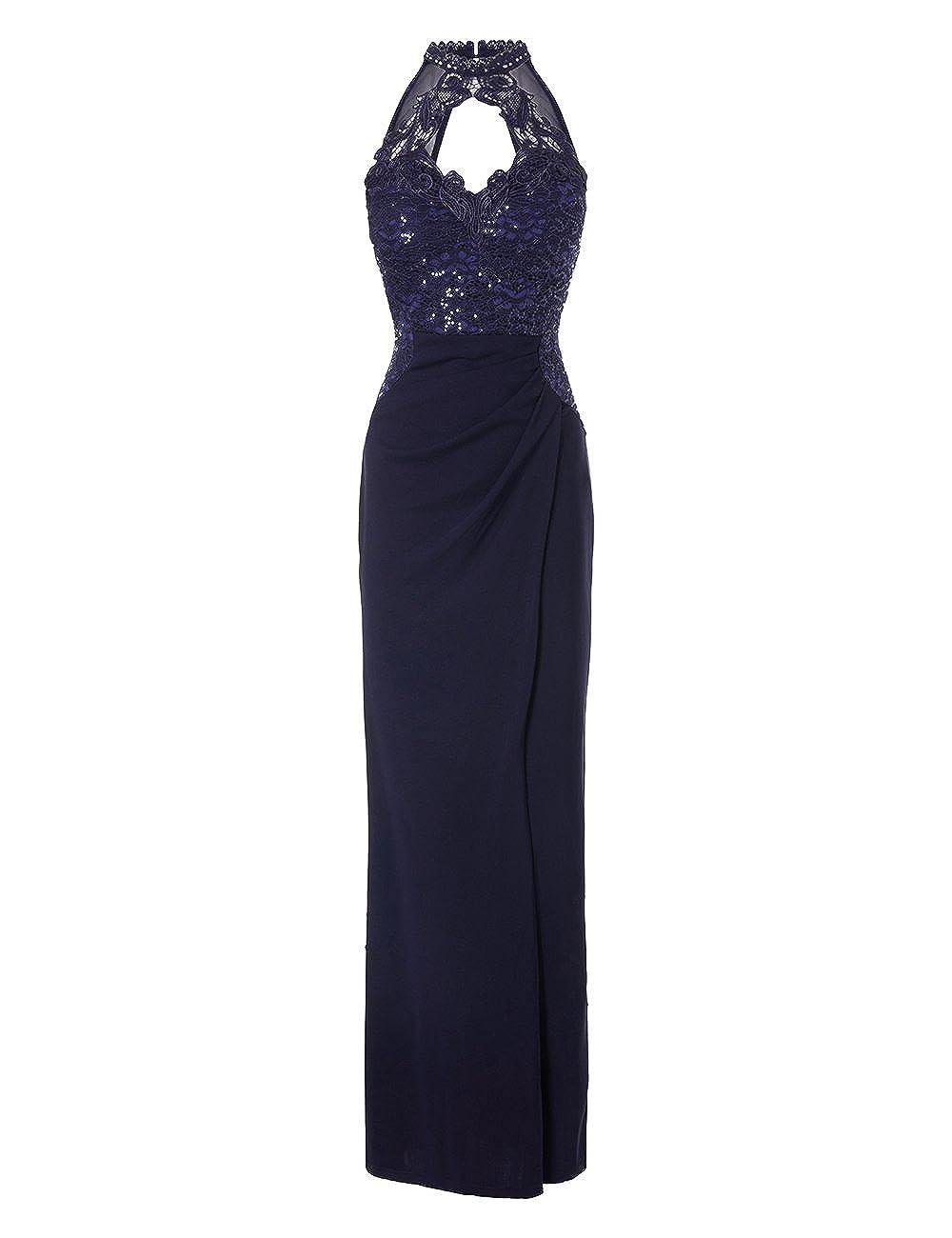 0192c2695f3d98 LIPSY Womens Sequin Bust Wrap Maxi Dress Blue US 12 (UK 16)  Amazon.ca   Clothing   Accessories