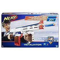 Nerf - Blaster Retaliator Elite, Portata fino a 20 m