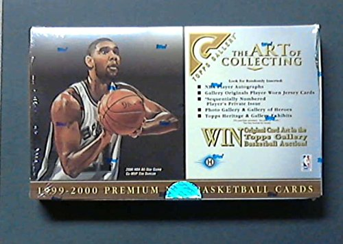 1999 - 2000 Topps Gallery Basketball Factory Sealed Hobby Box - 24 Packs