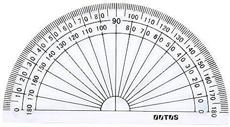 Lvcky Kunststoff Winkelmesser Für Winkel Messung Student Mathematik 180 Grad 10 2 Cm Transparent 10 Stück Amazon De Garten
