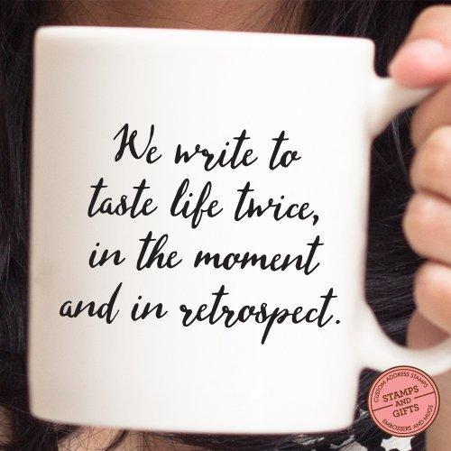 Amazon.com: Writer\'s Mug, Quote Mug, Quote Mug for writers, Holiday ...