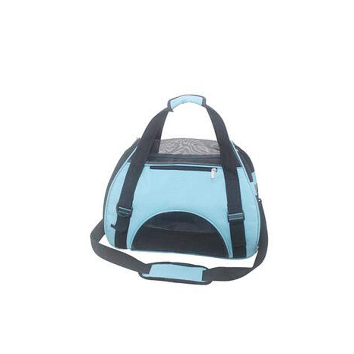 bluee Portable Tote, Soft Tote for Kittens and Dogs, Premium Zip, Lock and Wool Pad. Designed for Cycling, Travel, Hiking and Entertainment (color   bluee)