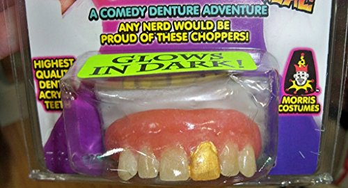 Miner Costume For Halloween - MORRIS COSTUMES Teeth Glow Gold Miner